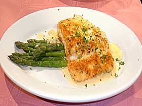 Macadamia Nut Crusted Halibut